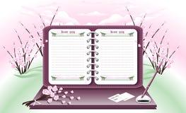 Het Notitieboekje van de lente. Royalty-vrije Stock Foto