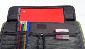 Het notitieboekje van de school Stock Foto's
