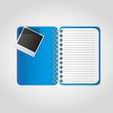 Het notitieboekje van foto's Stock Afbeeldingen