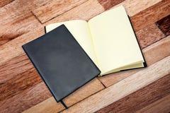 Het notitieboekje van het leer Stock Fotografie