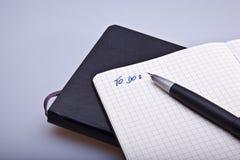Het notitieboekje van Moleskine Royalty-vrije Stock Fotografie