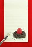 Het notitieboekje van Pasen Stock Foto