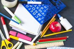 Het notitieboekjetoebehoren van de schoolstudent Royalty-vrije Stock Afbeelding