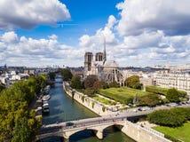 Het Notre-Dame de Paris, Frankrijk royalty-vrije stock foto's