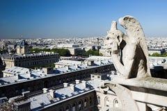 Het Notre Dame de Paris van de beschermengel Royalty-vrije Stock Fotografie