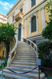 Het Numismatische Museum in Athene is één van de belangrijkste musea van Griekenland en huisvest één van de grootste inzamelingen Stock Foto