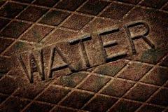 Het Nut van het het Dekselmangat van de waterdekking stock afbeelding