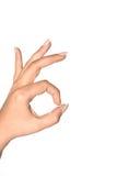 Het O.K. teken van de Hand Stock Fotografie