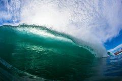 Het oceaan het Verpletteren van de Overzeese Lip van de Golf Beeld van de Foto van het Water Royalty-vrije Stock Afbeelding