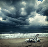 Het oceaan onweer naderbij komen Stock Afbeelding