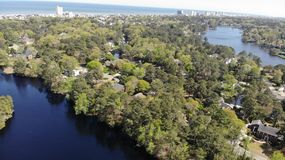 Het oceaan overzeese bos van Miami Florida royalty-vrije stock foto