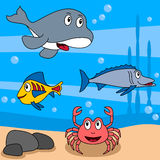Het OceaanLeven van het beeldverhaal [3] stock foto