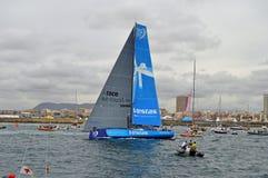 Het Oceaanras Team Vestas Wind Departs van Volvo stock foto