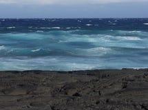 Het OceaanSchot van de Lava van Hawaï Royalty-vrije Stock Afbeelding