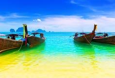 Het oceaanstrand van Thailand royalty-vrije stock afbeelding