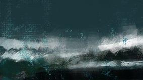 Het oceaanstrand van watergolven verfrist vakantieillustratie het schilderen stock illustratie
