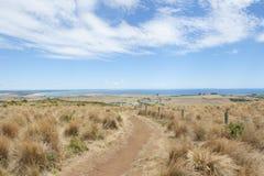 Het oceaanvooruitzicht van Stanley Tasmania over Bass Strait royalty-vrije stock foto's
