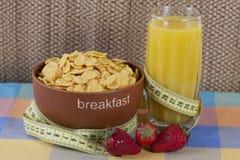 Het ochtendontbijt op de lijst Stock Foto's