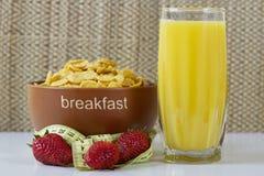 Het ochtendontbijt op de lijst Stock Foto