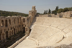 Het Odeum theater Athene Stock Foto's
