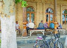Het Oezbekistaanse theehuis Royalty-vrije Stock Afbeeldingen