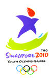 Het officiële embleem van de Olympische Spelen van de Jeugd Stock Foto's