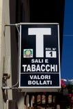 Het officiële Italiaanse Teken van de Tabakswinkel Royalty-vrije Stock Fotografie