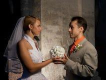 Het ogenblik van het huwelijk Royalty-vrije Stock Afbeeldingen