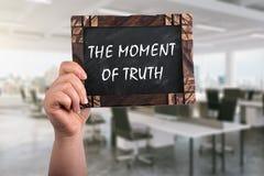 Het ogenblik van waarheid op bord royalty-vrije stock afbeeldingen
