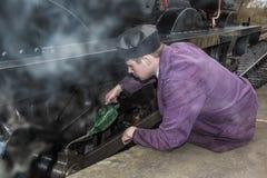 Het oli?en van de wielen Stock Foto's
