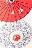 Het olie-Papier van Azië paraplu Stock Foto