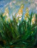 Het Olieverfschilderij van de bloem Royalty-vrije Stock Afbeeldingen
