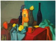 Het olieverfschilderij van het stilleven Royalty-vrije Stock Afbeelding