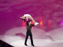 Het Olympische Feest van kunstschaatsen, Dan Zhang & Hao Zhang Stock Fotografie