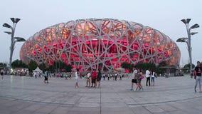 Het Olympische park van Peking bij dag HD stock footage