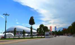 Het Olympische Park van Sotchi, mening van het voetbalstadion ` Fisht ` Royalty-vrije Stock Foto