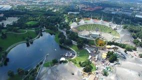 Het Olympische Stadion en het Olympische Park stock videobeelden