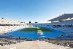 Het Olympische stadion van Barcelona stock afbeeldingen