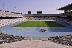 Het Olympische Stadion van Barcelona Stock Foto