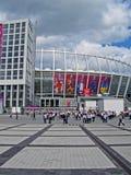 Het olympische Stadion van de Sport vóór gelijke Zweden-Engeland, Stock Afbeelding