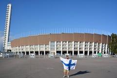 Het olympische stadion van Helsinki Stock Foto's