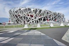 Het Olympische Stadion van het vogel` s nest bij dag, Peking, China Stock Foto's