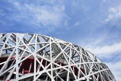 Het Olympische Stadion van het vogel` s nest bij dag, Peking, China Stock Afbeelding