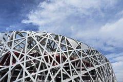 Het Olympische Stadion van het vogel` s nest bij dag, Peking, China Stock Afbeeldingen