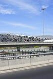 Het Olympische Stadion van het vogel` s Nest op een de zomerdag, Peking Stock Afbeelding