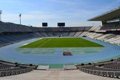 Het Olympische stadion van Montjuic stock afbeeldingen
