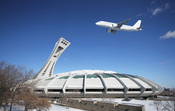 Het Olympische Stadion van Montreal Stock Foto