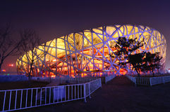 Het Olympische Stadion van Peking Stock Foto