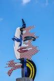 1992 het Olympische Symbool van Barcelona Stock Foto's