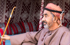 Het Omani mens lounging Royalty-vrije Stock Fotografie